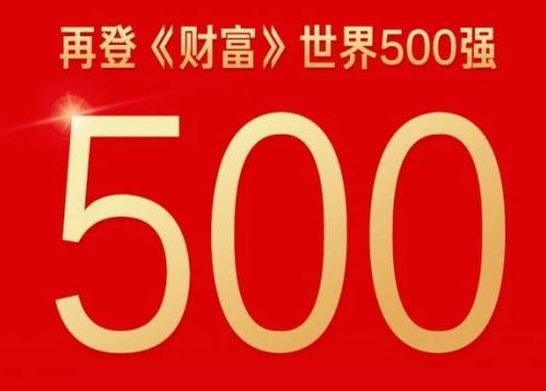 世界杯体育平台再登《财富》世界500强!